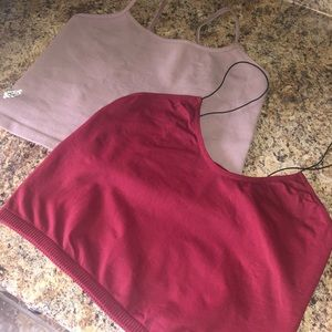 Pack of two Free People Cropped Tank Tops